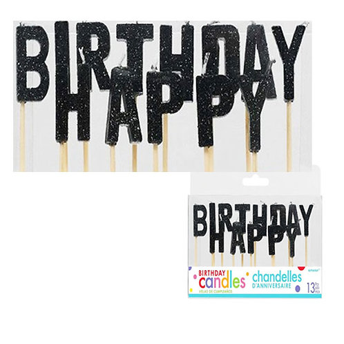 birthday candles | happy birthday letters | black birthday candles | birthday message | 24-7 Party Paks Australia