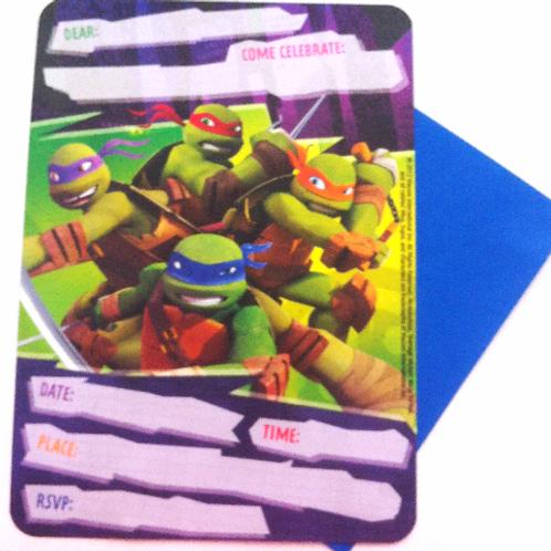 Teenage Mutant Ninja Turtle birthday invites 10 +
