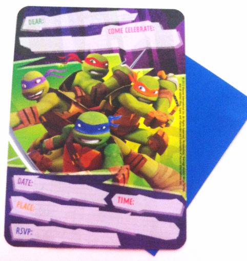 Teenage Mutant Ninja Turtle Birthday Invites 10