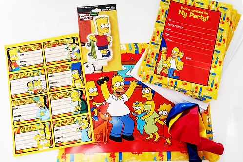 Simpsons mini party pack