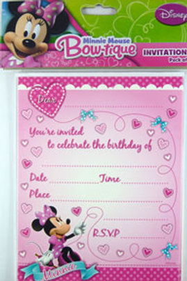 Minnie Mouse party invitations | birthday invites | girls birthday party invitations | Minnie Mouse party theme | Party Packs