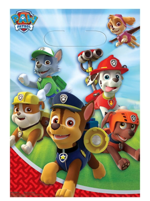 Paw Patrol party loot bags pack 8