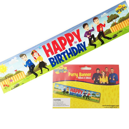 Wiggles birthday banner | party banner | happy birthday banner | party decorations | 24-7 Party Paks