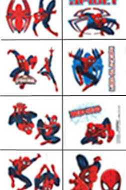 Spider-man Ultimate tattoos sheet 16 party favors