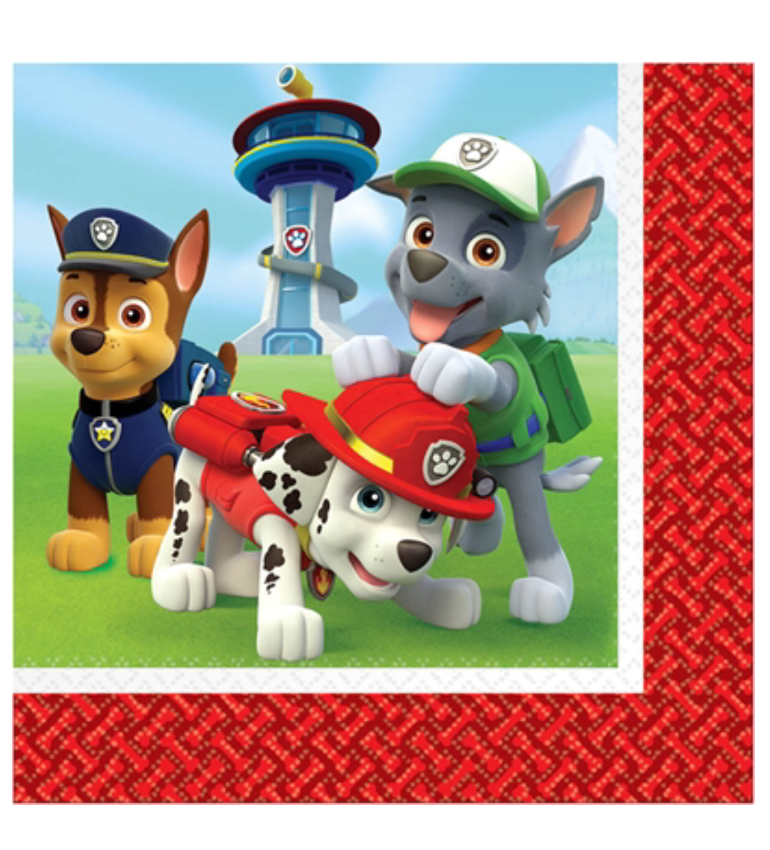 Paw Patrol party napkins lunch size