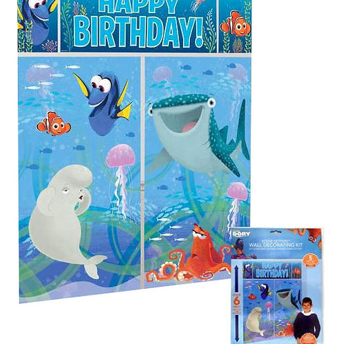 Finding Dory Giant Wall Decoration | Kids Birthday Supplies | 24-7 Party Paks