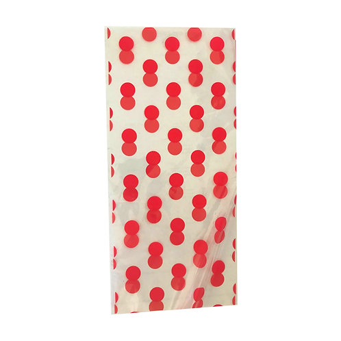Spotty party loot bag pack 5 pack