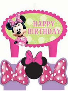 Minnie Mouse Candle | birthday candles | Cake decorations | 24-7 Party Paks
