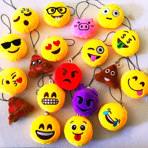emoji keyrings | emoji party favors | emoji party theme