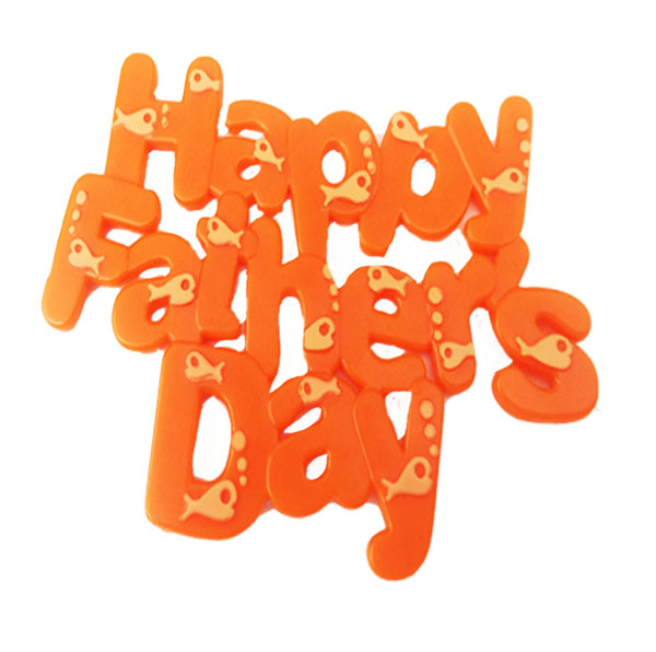 LAST ONE - Happy  Fathers Day cake topper plastic plaque - Keep it for next year too !