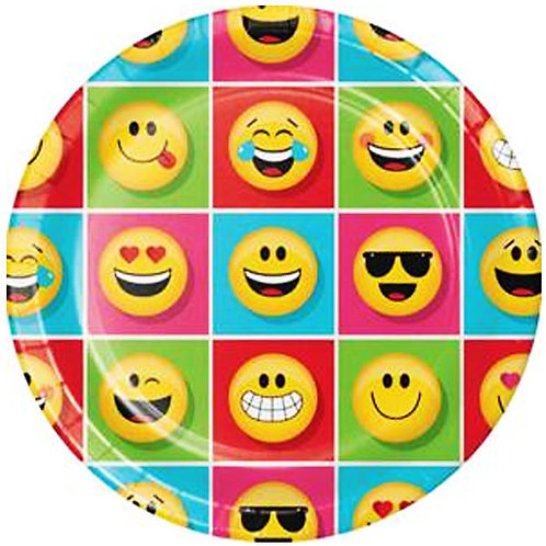 Emoji party plates large dinner size round