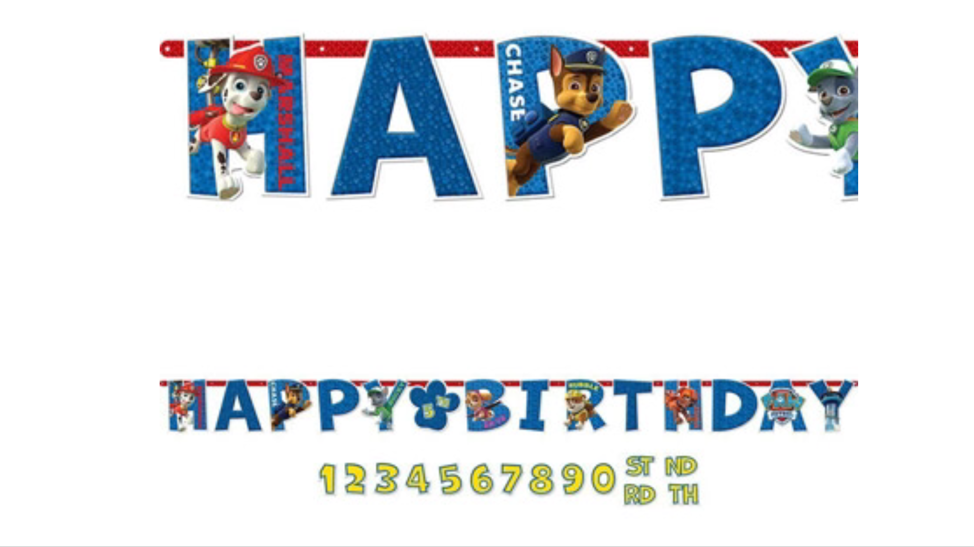 Paw Patrol birthday banner party decoration