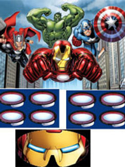 The Avengers kids birthdayparty game for 8 players