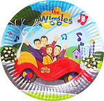 Wiggles birthday party packs,wiggles cupcake cases,wiggles party hats, wiggles candles