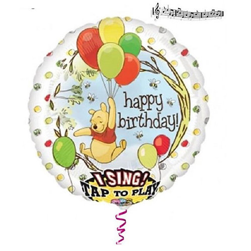 Winnie the Pooh singing balloon   Winnie the Pooh party balloons   24-7 Party Paks
