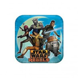 Star Wars Rebels party plates pack 8 - Dinner Size