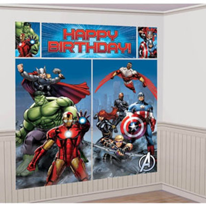 Avengers party Giant birthday scene setter 6 feet