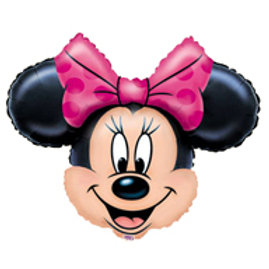 Minnie Mouse party balloons | Minnie Mouse head shape foil balloon | girls birthday party | 24-7 Party Paks