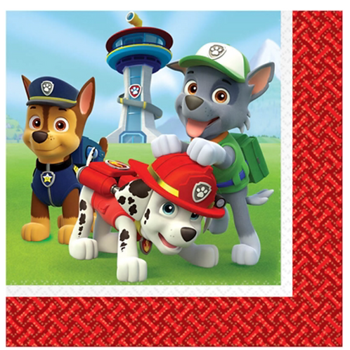 Paw Patrol party napkins luncheon size pack 16