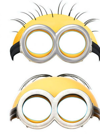 Minions fun party costume eye masks for kids parties