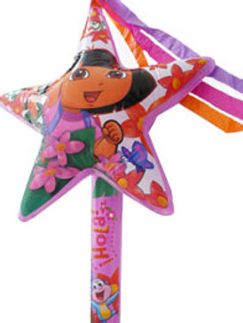 Inflate your Dora the Explorer party inflatable star wand and watch the streamers float in the air