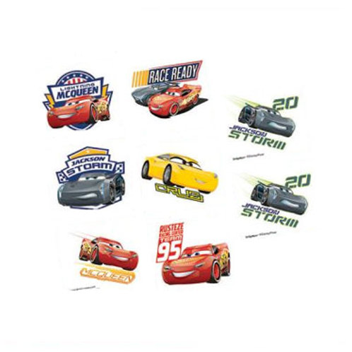 Disney Cars 3 party tattoos sheet 8 | buy online 24-7 Party Paks