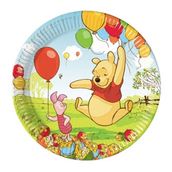 Winnie the Pooh party plates pack 10 Pooh Piglet disposable