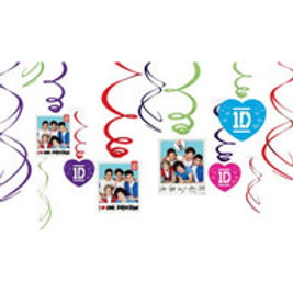 One Direction 1D swirls hanging decoration