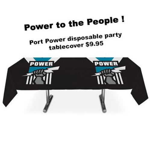 Port Adelaide Power football team logo plastic party tablecover