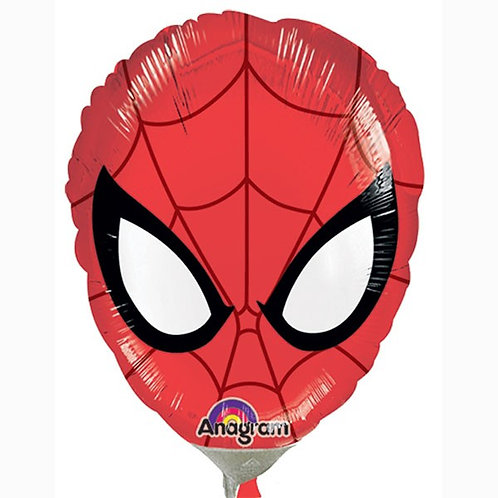 Spiderman shape foil balloon 32 x 27 uninflated
