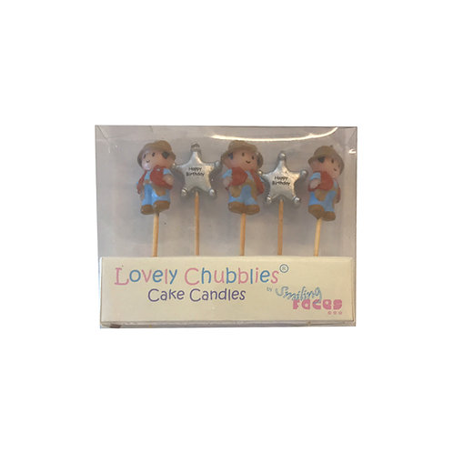 Lovely Chubblies Cowboy Happy Birthday Candles