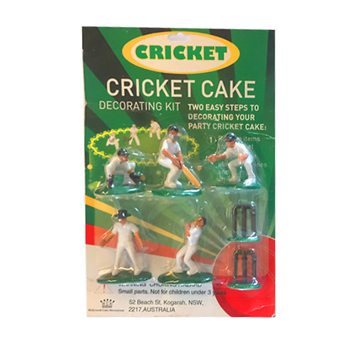 Cricket Players Cake Decorating Kit