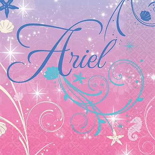 Disney Ariel Little Mermaid napkins snack pack 16