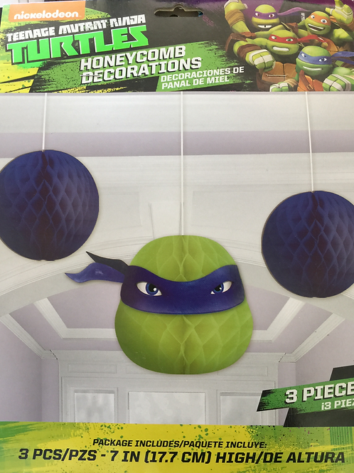 TMNT Character Honeycomb Decorations | Kids Party Supplies | 24-7 Party Paks