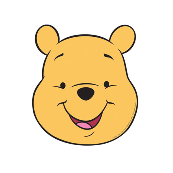 Winnie the Pooh party placements - Winnie the Pooh face & smile