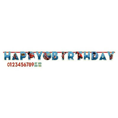 Incredibles 2 birthday banner | party banners | kids party decorations | kids party supplies
