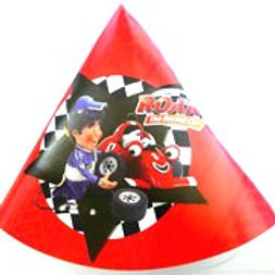 Roary the Racing Car party hats pk 6 Cone shape