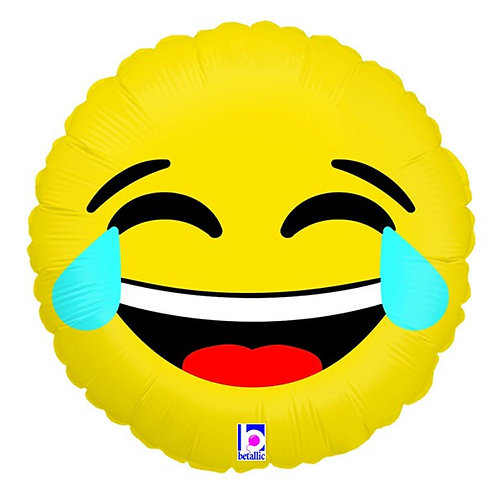 Emoji LOL laugh out loud crying laughing face foil balloon 46 cm uninflated