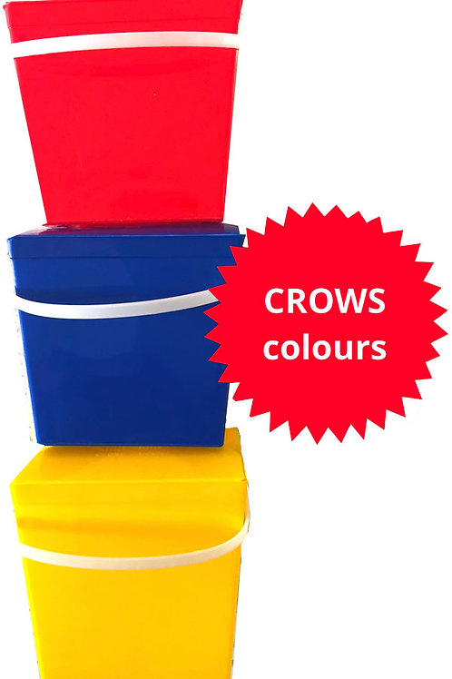 Party boxes Crows colours - pack 10 coloured noodle boxes receive 1 free