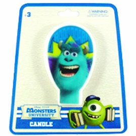 Monsters University birthday candle