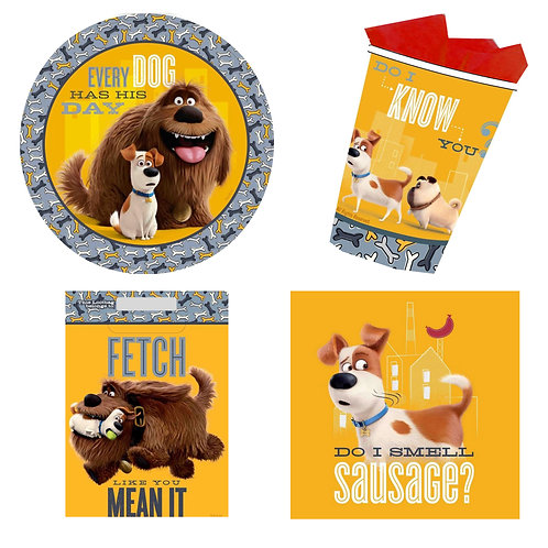 Secret Life of Pets Party Pack plates cups napkins loot bags
