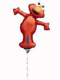 Elmo full body MINI size party foil balloon stick