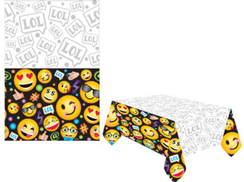 Emoji party themed plastic tablecover kids party table disposable tablecover