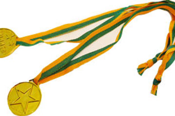 Gold medals faux plastic party favors prize pk 5