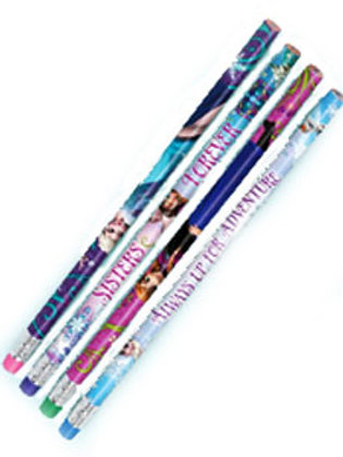 1 x pack of 12Disney Frozen pencils with mini eraser toppers