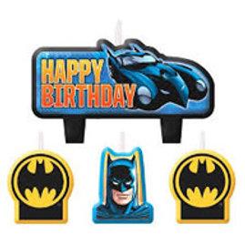 Batman candle set 4 piece - Birthday cake candles