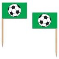 soccer flag picks | food pick decorations | cupcake decorations | flags on toothpicks | soccer party