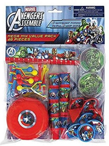 The Avengers party favor mega value pak mini toys