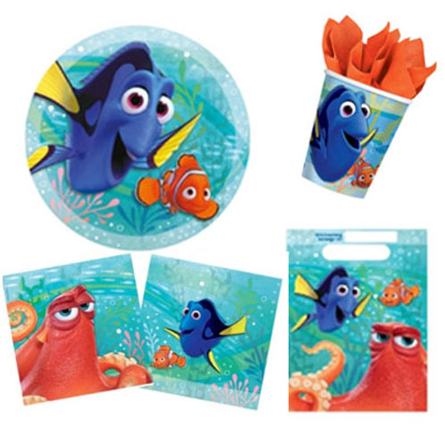 Finding Dory party Pack Includes - plates, cups, napkins and loot bags - Adelaide