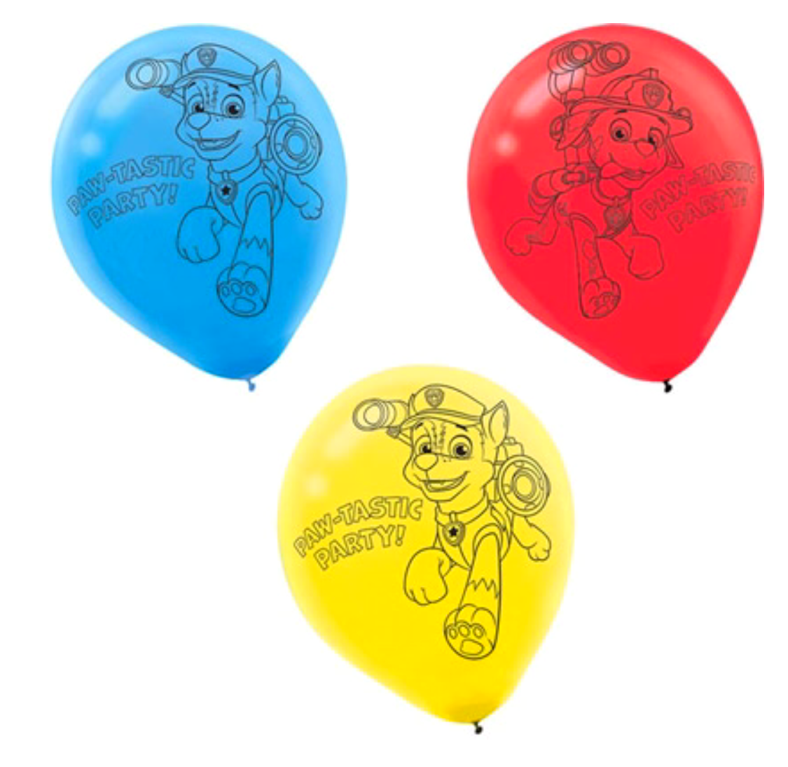 Paw Patrol party balloons pack 6